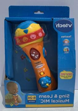 NEW Vtech Baby Sing & Learn Musical Mic Microphone Toy, Musi