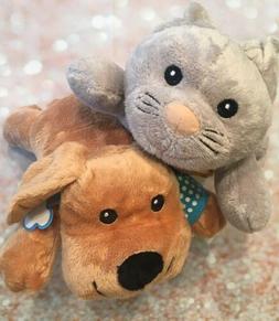 New Melissa & Doug Gray Cuddle Cat MAX Puppy Dog Plush Brown