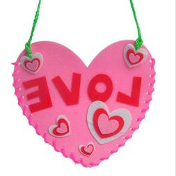 Funny Children's Handmade DIY Heart Hand-stitched Material P