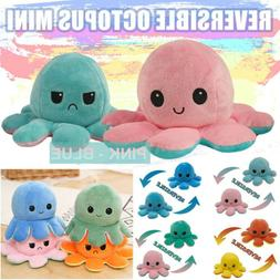 Octopus Plush Toy Double-Sided Flip Reversible  Squid Stuffe
