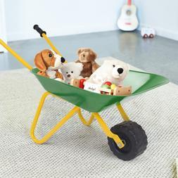 Outdoor Garden Backyard Play Toy Kids Metal Wheelbarrow