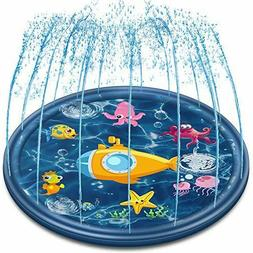 Outdoor Sprinkler Mat Summer Toys for Kids and Toddlers, 68'