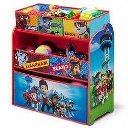 PAW Patrol Kids Toy Organizer Bin Childrens Storage Box Bedr