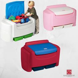 Plastic Toy Storage Chest Organizer Box Bin Child Kids Toddl
