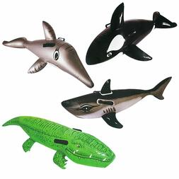 Pool Toys Floating Riders w/ Handles Dolphin Crocodile Whale