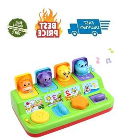 Battat - Pop-Up Pals - Cause & Effect Learning Toy for Babie