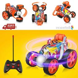 Remote Control Stunt Racing Car Rolling Rotating Car Toy For