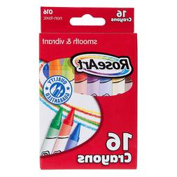RoseArt 16-Count Crayons, Packaging May Vary