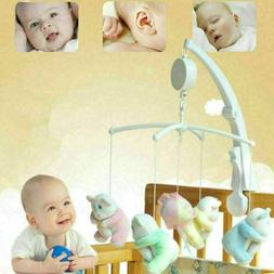 Rotary Baby Mobile Crib Bed Toys Clockwork Movement Music Bo