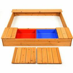 Sand Boxes For Kids Outdoor Toddlers Sandbox With Bench Seat