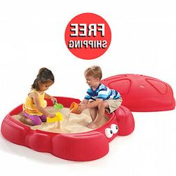 Sandbox With Cover Outdoor For Kids Boy Girl Play Fun Lid Pl