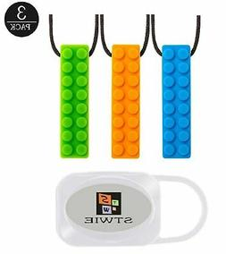 Sensory Toy Chew Necklace for Autistic Children,Adhd Toddler