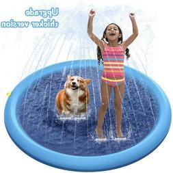 Splash Pad Sprinkler for Dogs Kids Childrens Inflatable Wadi