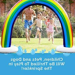 Splashin'kids Outdoor Rainbow Sprinkler Super Toddler Water