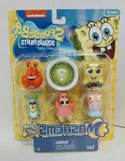 SpongeBob Mini Figures Toy Set of 6 Mashems Mash'ems Squishy