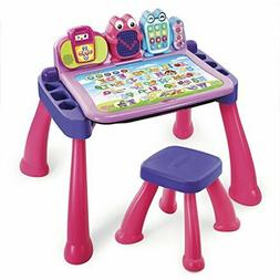 touch and learn activity desk deluxe pink