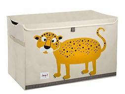 Toy Box Chest Storage Trunk Kids Room Daycare Cheetah Organi