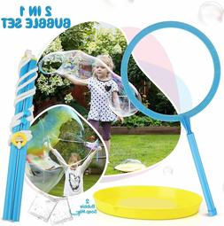 TOY Life Big Bubble Wand for Kids Set Giant Bubble Wand Make