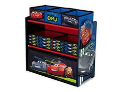 Toy Organizer Multi Bin for Kids Disney Cars Playroom Storag