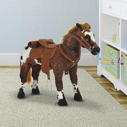 """Kids Toy 24"""" Ride On Horse Plush Standing Pony Cowboy Gift N"""