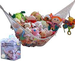 MiniOwls Toy Storage Hammock Large Organizer White