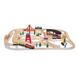Wooden Railway Train Set