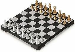TJ Global Travel Magnetic Chess Mini-Set Folding Chess Board