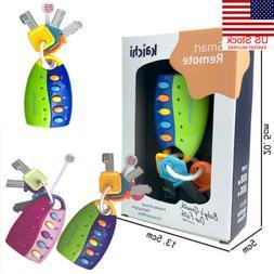 US Baby Car Key kids Musical Keys Baby's Sound and Light Pre