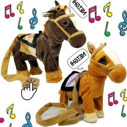 Walking Horse Pony Musical Singing Toys Plush Battery Horse