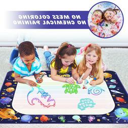 Water Drawing Mat Kids Toys Aqua Magic Doodle Mat Mess Free