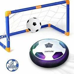 WisToyz Kids Toys Hover Soccer Ball Set with 2 Goals, Air So