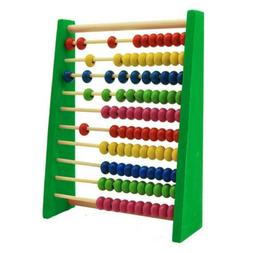 Wooden Bead Abacus Counting Frame Childrens Kids Educational