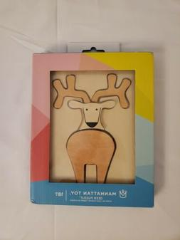 Wooden Deer Puzzle Manhattan Toy Ages 18M + 5 Piece Easter S