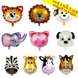 zoo theme cartoon foil balloon safari jungle